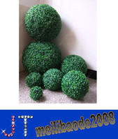 Wholesale boxwood balls resale online - O69 Dia cm Artificial Plastic Boxwood Ball Simulation Grass Ball Hotel Market Home Decoration