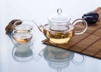 Wholesale Double Walled Glass Teapots - 3in1 Mini Kung fu Tea Set -7fl.oz 220ml Heat-Resisting Pyrex Clear Glass Small Teapot Coffee Pot +2*1.18 fl.oz 35ml Double Wall Tea Cup Mugs