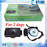 Wholesale Dog Wire For Fencing - For 2 dog In-Ground Electric Dog Fencing System Pet Fence system Dog Training Collar Electronic Boundary Control,wu