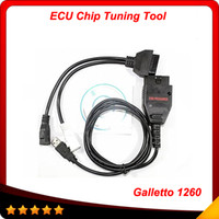 Wholesale Auto Ecu Chip - 2016 Hot sell EOBD Galletto 1260 ecu chip tuning tool Galletto 1260 EOBD II Flasher high quality Auto scan Interface 20pcs lot DHL free