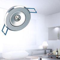focos reflectores led para el hogar. al por mayor-2 unids / lote AC85-265V 1W 95LM blanco cálido / blanco LED empotrable Downlight Lámpara de luz de techo con conductor Envío gratis