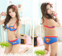 Wholesale Cute Japanese Bras - Japanese cartoon cute girl student leisure candy colored thin underwear bra set multicolor small chest