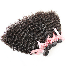 """Discount virgin hair dhl - Hair Extensions 100% Indian Top Human Hair 8""""-30"""" Virgin Unprocessed Hair Weft Weave Curly Natural Color Dyeab"""