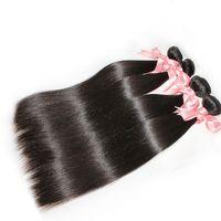 Wholesale Brazilian Hair Mixed Length 3pcs - Grade 7A 100% Brazilian Virgin Hair Silky Straight Mix Length 3PCS LOT Remy Human Hair Weaves HairExtensions Natural Color DHL
