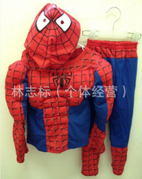 $enCountryForm.capitalKeyWord Canada - Muscular Spiderman Halloween costume cartoon character Spiderman suit style long-sleeved clothing performance clothing