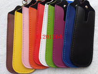 Wholesale Ego Qq - High quality Bigger eGo PU Leather Lanyard Carrying Pouch Case For Bigger Electronic Cigarette X6 K101 QQ KK PH2 Min order :50pcs lot
