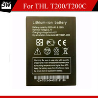 Wholesale Thl Smart Phones - 100% Original Rechargeable 2500mAh Lithium-ion Battery For THL T200 T200C Smart Phone