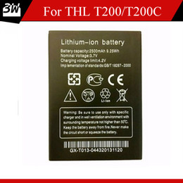 Wholesale Thl Batteries - 100% Original Rechargeable 2500mAh Lithium-ion Battery For THL T200 T200C Smart Phone