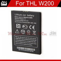 Wholesale Mtk6589t Phones - 1800Mah Original THL Phone Battery For THL W200 MTK6589T Quad Core Smart Cell Phone Battery