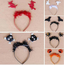Wholesale Wholesale Party Mascot Costumes - Free shipping,,Mascot,spider,bat, white ghost,pumpkin headband,halloween party costume headband,30pcs lot
