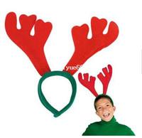 ingrosso grandi sfere di natale di plastica-Gratis spedizione Natale archetto cappello renne antle archetto adatto a bambini e adulti
