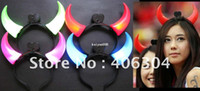 Wholesale Fan Suppliers - Free shipping by EMS,Concert light horn headband,LED glow headband, light toy ,football fan items,party suppliers