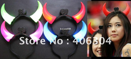 Wholesale Light Toy Fan - Free shipping by EMS,Concert light horn headband,LED glow headband, light toy ,football fan items,party suppliers