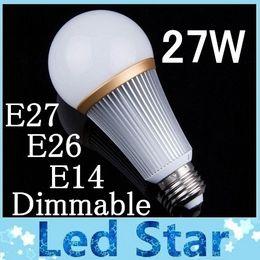 Wholesale Led Bulbs Lights Price - Direct factory price E27 27W Led bulb light lamp E26 E14 Dimmable Warm Pure Cool White led Energy Savning Spot light lamp 110-240V CE ROHS