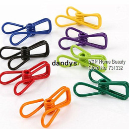 Wholesale Novelty Paper Clips - Multifunction Mini metal clips pegs for bag storage clothes memo note clamp paper Kitchen accessories Novelty household 8546, dandys