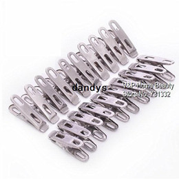 China Stainless steel Clothes pegs clips for coat pants laundry drying hanger rack folder washing accessories Novelty household 7302, dandys suppliers