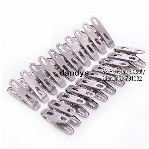 Stainless steel Clothes pegs clips for coat pants laundry drying hanger rack folder washing accessories Novelty household 7302, dandys