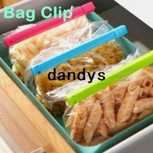 24 pcs/Lot Plastic Bag clip Bulk Sealer up food flavoring Kitchen accessories Innovative items Novelty household 8516, dandys
