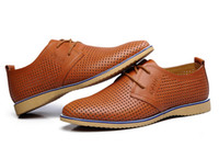 Wholesale Business Sandals - groom's shoes Wedding shoe Breathable beach shoes Hollow out men's fashion business shoes men's Work shoes Casual shoes sandals NSPX15