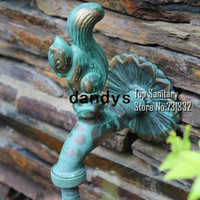 outdoor garden faucets - TB9044 Decorative outdoor faucet rural animal shape garden Bibcock with antique bronze Squirrel tap for Garden washing dandys