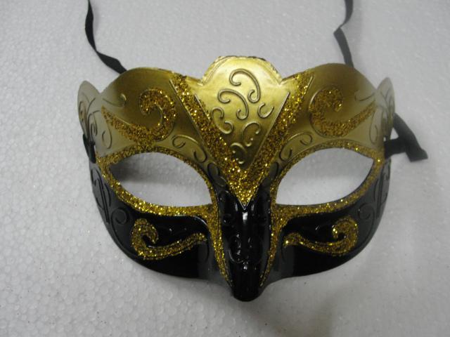 100 pçs / lote promoção venda máscara do partido novo presente de casamento de ouro da moda Venetian partido masquerade prop Hallween prop frete grátis
