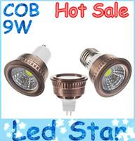 Wholesale led energy saving mr16 - High Quality GU10 9W COB Led Lights E27 E26 MR16 GU5.3 Dimmable Led Spot Bulbs Light Cool Warm White 110-240V 12V Energy Saving