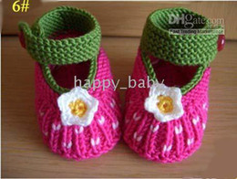 Wholesale Unique Boots - Unique HANDMADE baby Crochet shoes boots,hand-crocheted first walker shoes for infants kids toddlers