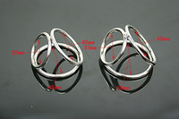 Wholesale Triple Cock Rings - 2018 Male Stainless Steel Triple Cock Ring Penis Delay Gonobolia Tool Gadget Chastity Device BDSM Fetish Adult Sex Toy Large Small A511
