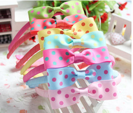 Wholesale Ribbon Baby Headbands - Children's Hair Accessories Hair Bands Baby Performances Headdress Hair Clips Hair Bows Christening Dresses Girls Dancewear