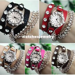Дешевые часы горный хрусталь онлайн-Cheap Price Synthetic Leather Woman Dress Watch Rhinestone Watch Silver Sling Chain Quartz Wrist Watch 19223 b003