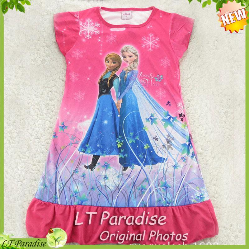 2018 New Girls Nightgown Summer Frozen Pajamas Nightgowns Kids ...