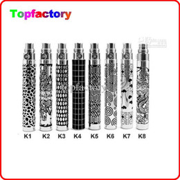 Wholesale Engraved Batteries - ego-K Battery Engraved ego k battery 650mah 900mah 1100mah for Electronic Cigarettes E Cigarette Kit Various styles DHL Free shipping