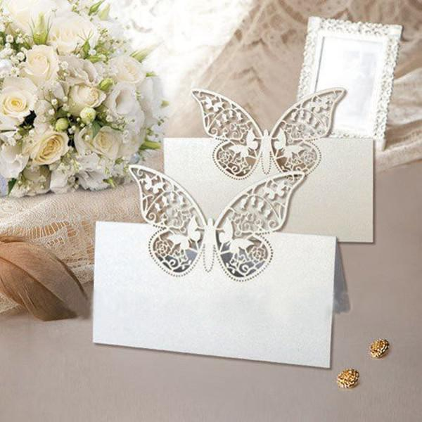 Elegant Butterfly Wedding Table Place Card Number Cards Centerpieces