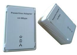 200Mbps / 500Mbps Adaptador de red eléctrica de montaje en pared adaptador de red Ethernet Adaptadores de red de comunicación de señales estables rápidas venta caliente