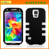 Wholesale Defender Case For S4 - Hybrid Duty Defender Hard Plastic PC +tpu Gel Rubber Case Cover Skin for Samsung Galaxy S5 S4 S3 iphone 5 iphone 4 iphone 5c
