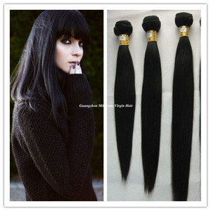 Wholesale Top Selling New Unprocessed Virgin Brazilian Human Hair Weaves Remy Straight Hair Extensions bundles