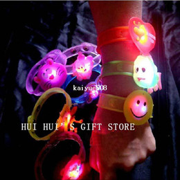Wholesale Light Up Bracelets Free Shipping - Free shipping, Cartoon light bracelet,LED bracelet light up for party Christmas,glowing watch,suitable for children and adult