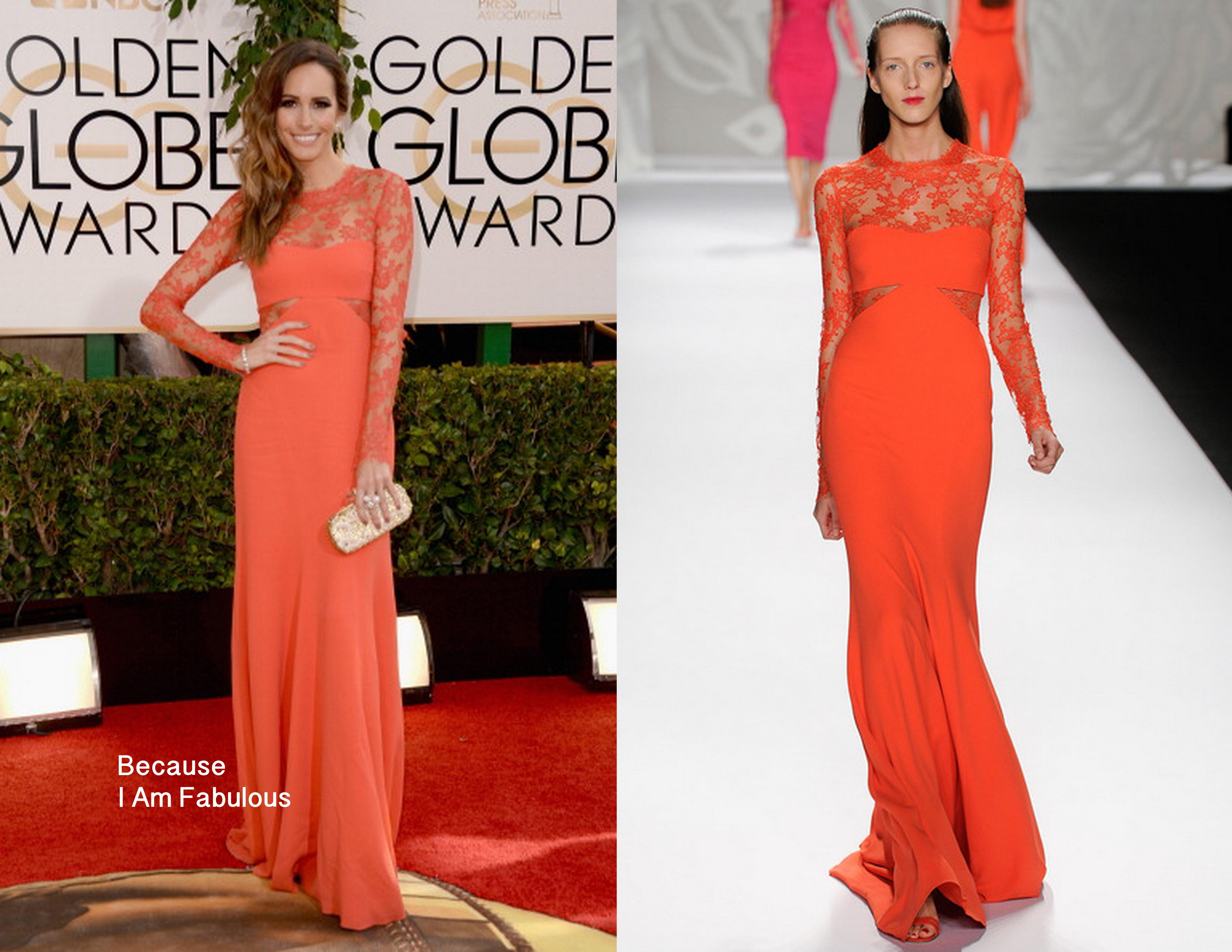68ca7435901d Chiffon Monique Lhuillier Celebrity Dresses Inspired By Louise Roe Evening  Gowns With Crew Neck Sheer Long Sleeve Appliques Prom Gowns Cheap Red  Dresses ...
