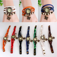 Wholesale Butterfly Cheap Price - Cheap price hand-made retro butterfly beads Watch Genuine Cow leather wrist watches with no logo ladies' fashion gift watch free shipping