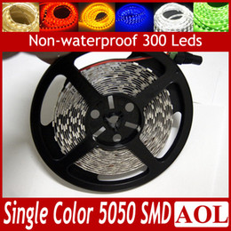 Wholesale Wholesale Rope Lights For Cars - LED flat rope light 5m 300leds SMD 5050 Flexible LED Strips Light Non-waterproof DC 12V Single Color for car bar KTV store decoration