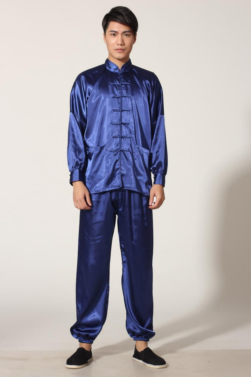 Martial Arts Set Tai chi chinese style top long sleeve tang suit set chinese traditional clothes Kung fu jacket + pants