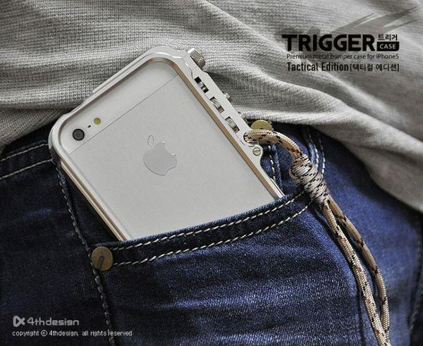 Kalite M2 4th tasarım Tetik kılıf Alüminyum Tampon Durumda iPhone 4 4 S 5 5 S iphone X 8 7 6 6 S Artı Kir-dayanıklı