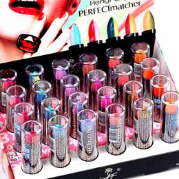 Bálsamos de lábios coloridos on-line-Batons de Alta Qualidade Da Marca Lip Manchar O Bálsamo de Maquiagem 24 PCS 6 cores Matte Batom Magia Mudança de Temperatura da Cor da Cor do Batom H118