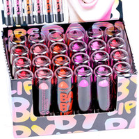 purple lipstick venda por atacado-Batons de alta qualidade da marca Lip Manchar O Bálsamo de Maquiagem 24 PCS 6 Cores Vermelho Rosa Roxo Matte Coloridos Hengfang Batom Batom H119