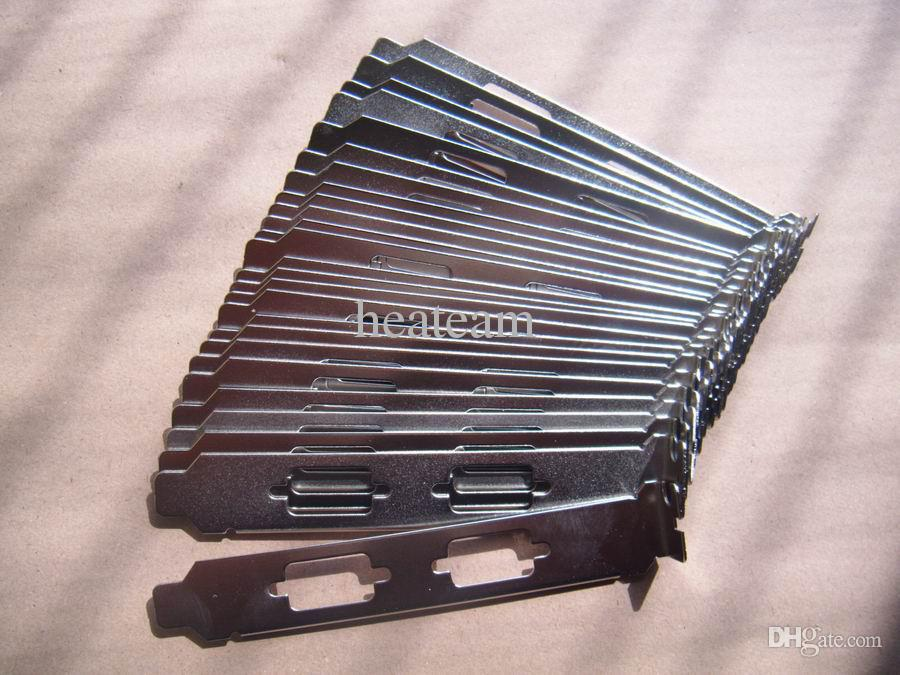 per dell lenovo hp acer Gateway PCI Dual VGA DB9 Serial Slot Cover a tutta altezza Staffa nichelata con vite