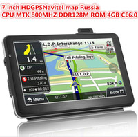 Wholesale Chinese Audi Navigation - 7 Inch HD Car GPS Navigation CPU 800MHZ + FM + Free latest maps
