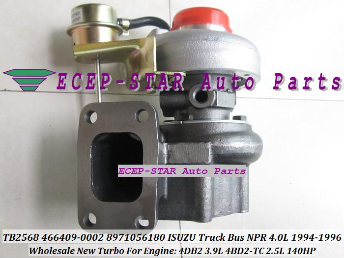Turbocompresor chra Core Cartucho Isuzu Npr 4DB2 8971056180 8971056181 466409