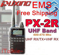 Wholesale Hotel Ham - Updated version Puxing PX-2R Plus UHF Half dualband dual receive Two Way Radio FM transceiver Keypad LCD for security,hotel,ham