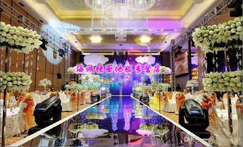10m 12m Wide Wedding Ceremony Centerpieces Decoration Mirror Carpet