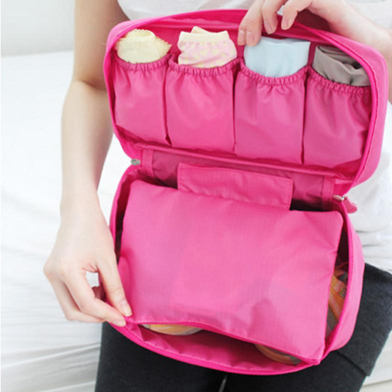 Borse di immagazzinaggio della biancheria intima delle reggiseni delle mutandine delle borse delle mutandine di immagazzinaggio dei sacchetti di immagazzinaggio di viaggio della cassa impermeabile portatile del reggiseno di trasporto libero